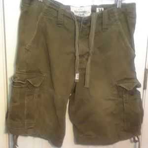 NWOT 34 ABERCROMBIE FITCH MENS CARGO SHORTS